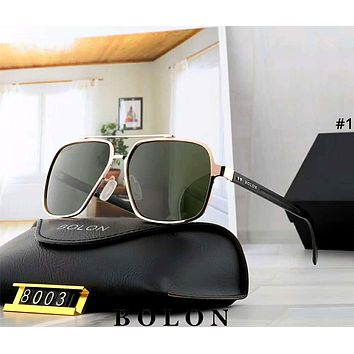 BOLON tide brand men and women large frame polarized frog mirror sunglasses #1