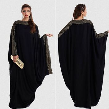 plus size S~6XL quality latest arab elegant abaya kaftan islamic fashion muslim dress clothing design women black dubai abaya