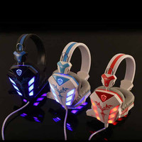 Gaming Headset Headband Earphone with Microphone Noise Canceling