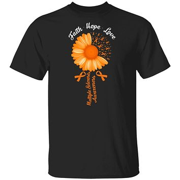 Faith Hope Love Orange Multiple Sclerosis Awareness