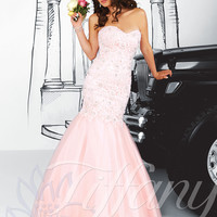 Strapless Sweetheart Formal Prom Dress Tiffany Designs 16033
