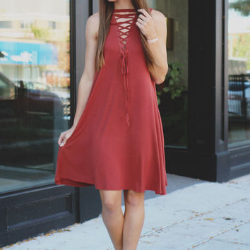 Unhinged Dress - Marsala