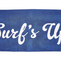 Edie Parker Surfs Up Beach Towel, Royal