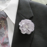 Boutonniere Tac Pin for the Dapper Man Choose Color Style with or without Rhinestone Center Boutonniere Pocket flower Lapel Pin Flower