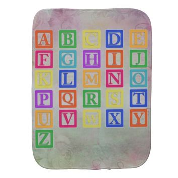 Block Letters Burp Cloth