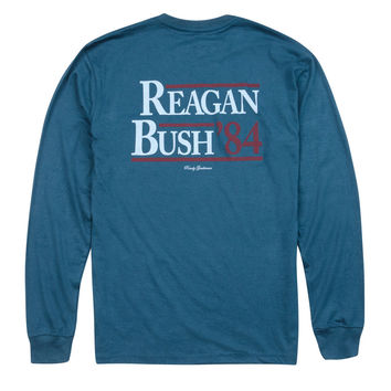 Reagan Bush '84 Long Sleeve Pocket Tee