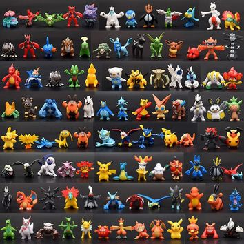864pcs/576pcs/288pcs/144pcs  Cartoon mini 2-3cm es Action Figure pikachued Figures Model Toys For Children K76Kawaii Pokemon go  AT_89_9