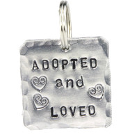 Square Adopted Pet Tag