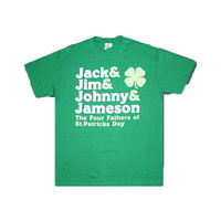 The Four Fathers: Jack, Jim, Johnny and Jameson - St Patrick's Day - tee shirt