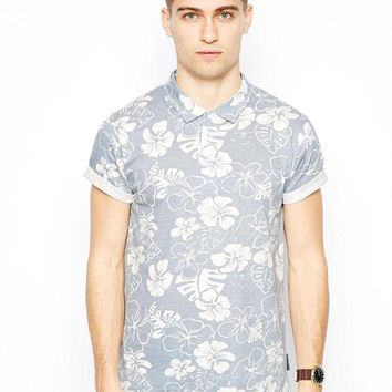 French Connection Floral Polo Shirt