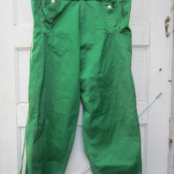 40s Green Baseball Pants by Bresler // Softball Uniform Pants