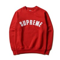 SUPREME Fashion Casual Long Sleeve Sport Top Sweater Pullover Sweatshirt