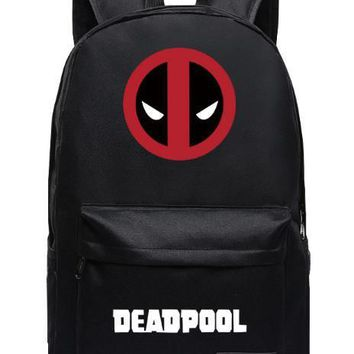 2016 Marvel Backpack for teenagers Deadpool Printing School bags Candy Color Unisex Mochila