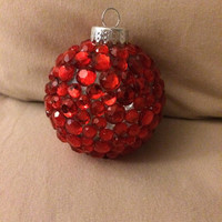 Customizable Rhinestone Ornament