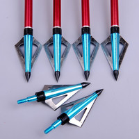 Blue Hunting Broadheads- 6pcs
