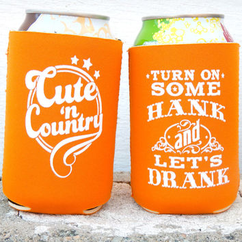 Turn On Some Hank And Let's Drank Can Coolers (4 Pack)