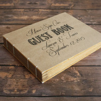 Large Custom Rustic Wedding Guest Book - Create Your Own Wedding Heirloom Book, Anniversary Gift