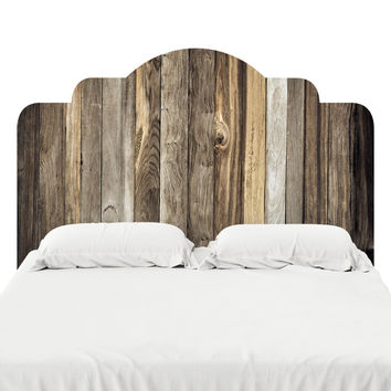 Barn Wood Headboard Decal