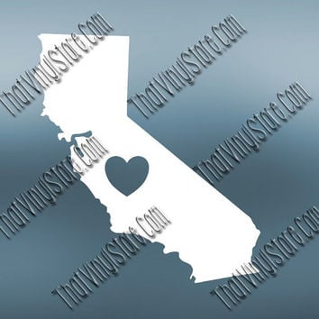 California Heart Home Decal | I Love California Decal | Homestate Decals | Love Sticker | Love Decal  | Car Decal | Car Stickers | 464