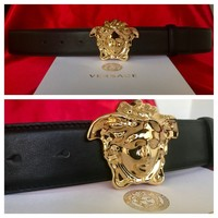 New Authentic Black Versace Belt 95 cm fits 30-34 waist