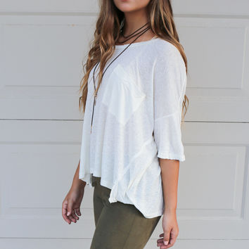 San Marcos Ivory Short Sleeve Top