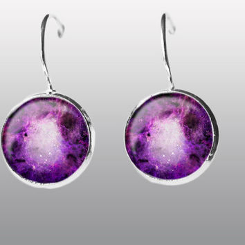 Universe Earrings. Galaxy Earring. Nebula Space Earrings.  Galaxy dangle Earrings. Space Post Earrings Gift for Women and Girls.
