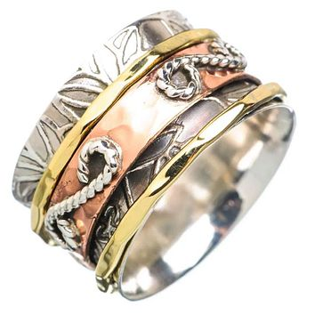 Spinner Ring - Three Tone Infinity Design