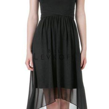 Bill Levkoff 1200 High Low Halter Chiffon Bridesmaid Dress