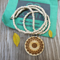 Tulsi Bead Mala Necklace