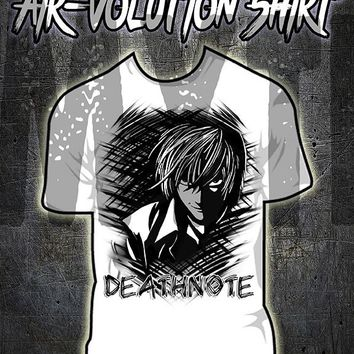 B105 custom personalized airbrush Death note Tee Shirt L Anime