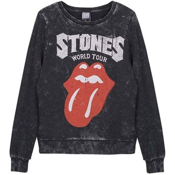 Rolling Stones  Tongue Girls Jr Sweatshirt Black