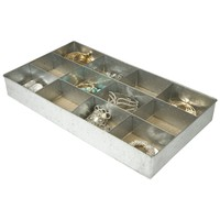 12 Section Jewelry Organizer / Desk Drawer Tray (Tin)