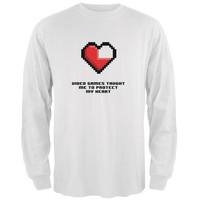 Video Games Protect My Heart White Adult Long Sleeve T-Shirt
