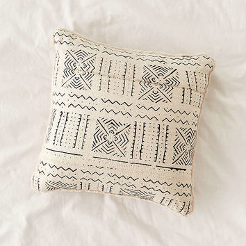 Cozy Nomad Mudcloth Faux Fur Throw Pillow | Urban Outfitters