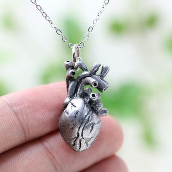 Unisex Anatomia Heart Pendant Anatomy Jewelry Anatomical Heart