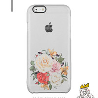 iPhone 6s case Clear Floral iPhone 6 case Rose Bouquet Samsung S6 Edge Plus Case Clear iPhone 6s plus case Rubber iPhone SE Case Clear