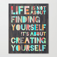 Create Yourself Stretched Canvas by Jacqueline Maldonado