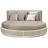 Ophelia Temptation Round Leather Bed with Mattress