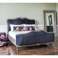 Montmartre Black Velvet Bed | French Bedroom Company