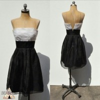 White House | Black Market Two-Tone Organza Dress