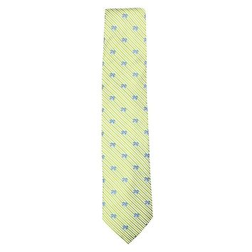 Palm Tree Seersucker Neck Tie in Summer Green by Southern Tide