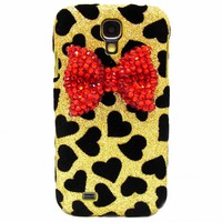 Samsung i9500 Galaxy S4 case,Bling Velvet Black Heart Gold Samsung i9500 Galaxy S4 Case,Bling Crystal Red Bow Samsung i9500 Galaxy S4 Case