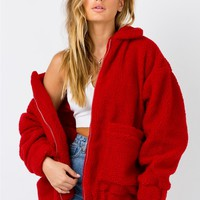 I.AM.GIA Pixie Jacket Coat Red | Princess Polly Australia