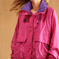 90s COLOR BLOCK neon womens SKI columbia style pastel spring Jacket coat