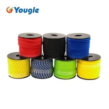 YOUGLE 5 Strand 350lb Paracord Parachute Cord Lanyard Rope Mil Spec Climbing Camping Knitted Bracelet 164FT 7 Colors