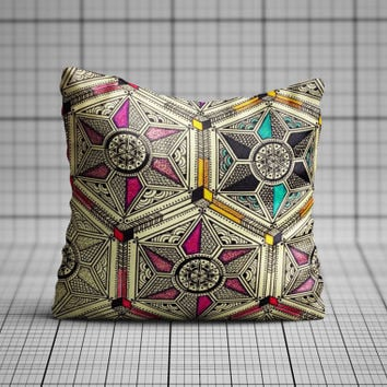 Sacred Geometric Pillow Cover