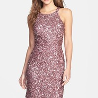 Women's Adrianna Papell Sequin Cutaway Sheath Dress