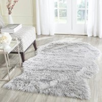 Safavieh Handmade Faux Sheep Skin Light Grey Acrylic Rug (2' x 3') - Walmart.com