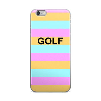 GOLF Golf Wang Odd Future OFWGKTA Wolf Gang Green Pink & Orange iPhone 4 4s 5 5s 5C 6 6s 6 Plus 6s Plus 7 & 7 Plus Case