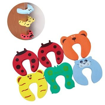 New Baby Pinch Finger Guard Lock Stopper Protector Safety Door Stop Color
